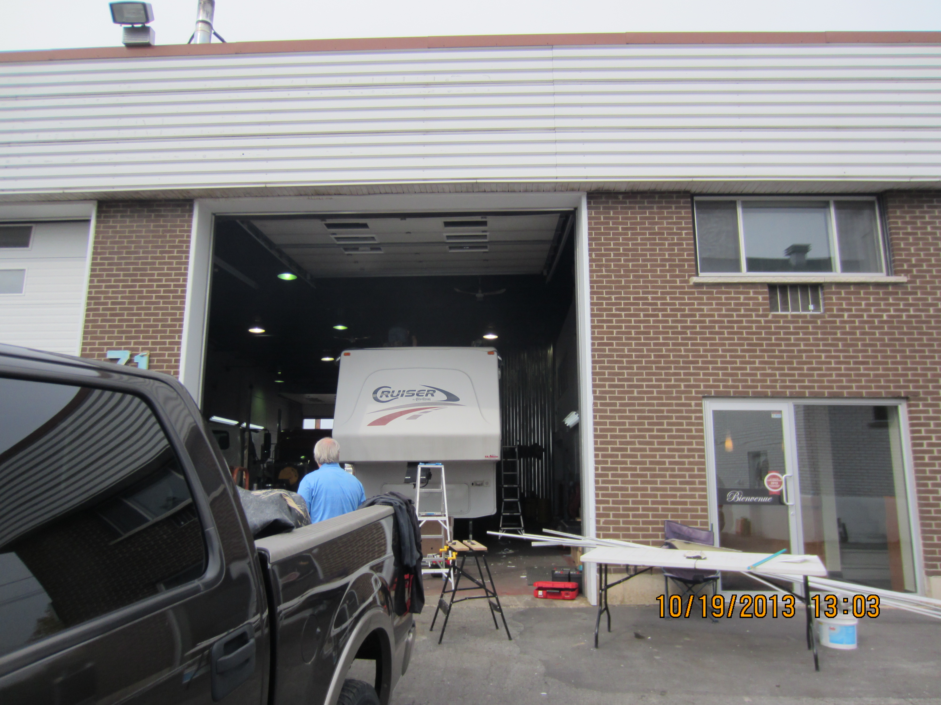 Installation de membrane epdm rv vr service mobile for Infiltration eau garage